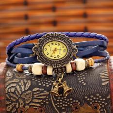 Free Shipping Wholesale Dropship 2013 Hot Sale Reloj De Pulso Fashion Watch Vintage Leather Quartz Watches (Purple) (Intl)