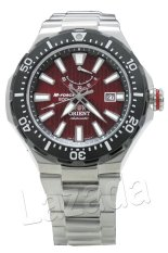 Orient M Jam Tangan Pria - Maroon - Strap Stainless Steel - Force SEL07002H0