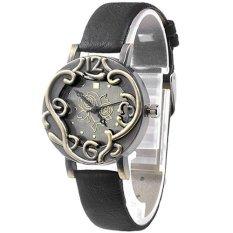 Ormano - Jam Tangan Wanita - Hitam - Strap Leather - Vintage Rose Watch