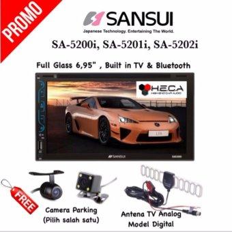 Paket Audio Mobil Head Unit Double Din 2din Tape Sansui SA-5200i / SA-