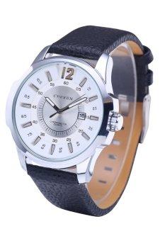 Panas penjualan Curren 8123 merek mewah jam kuarsa Kulit Strap kuarsa Tahan Air Olahraga Perhiasan Perak shell putih permukaan