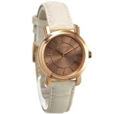 Pierre Cardin Jam Tangan Wanita Leather Strap PC106612F03 Putih Ring Rosegold Plat Rosegold