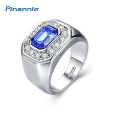 Pinannie kristal Austria asli Platinum berlapis cincin pria dan untuk wanita