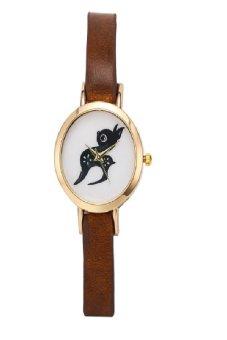 Plain Watch Lovers Gift Casual Quartz Clock Leather Strap Watch Wood Unisex Wristwatch Relogio Masculino (Light Brown)