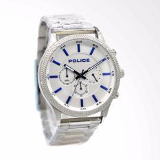 POLICE PL.15002JS/04M - Chronograph - Jam Tangan Pria - Bahan Tali Stainless Steel - Silver