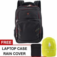 Polo Classic 18077-21 Backpack + Rain Cover - Black