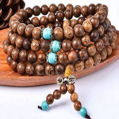 Pulseras Beads Natural Sandalwood Buddhist Buddha Wood Prayer Bead Mala Unisex Bracelets & Bangles Jewelry Bijoux Prayer Beads Bracelets