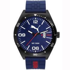 Puma - Jam Tangan Pria - Hitam-Biru - Rubber Biru - PU104151003 (Blue)