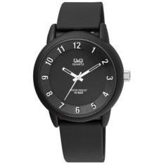 Q&Q-jam tangan pria&wanita QMoe121a rubber strap-water resistant-terbaru