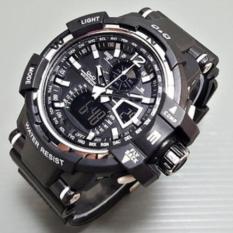 Q&Q Jam Tangan Sport Pria - Rubeer Strap - Dual Time QQ676