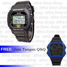 Q&Q Q2011 Digital Jam Tangan Pria Buy 1 Get 1