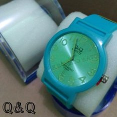 Q&Q Watch - Jam Tangan Wanita Dan Wanita - Rubber Strap - QQP.K.S.G 874602 Biru Muda (Blue)