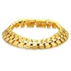 Quality Men's 18K Gold Bracelet Gold, Bracelet Men's Luxury High.