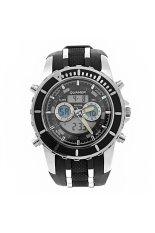 Quamer SD-161 Dual-time Men Digital Quartz Sports Wrist Watch With Alarm / Calendar / Stopwatch / Plastic Band Black