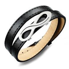 Queen European Style Punk Retro Leather Bracelet Jewelry Wholesale (Black)