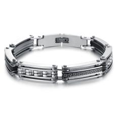 Queen Korean Fashion Titanium Steel Bracelet Engraved Wild Hip-hop Jewelry Wholesale Gift (Silver)