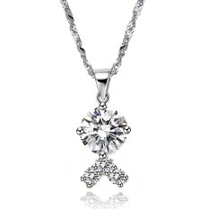 Queen Track Meet - Luxury Ladies Gold-plated Diamond Necklace (White)