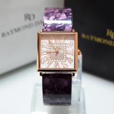Raymond Daniel 219 - Jam Tangan Wanita - RD 219 - Rose Gold Purple - Stainless Steel - Anti Air (Purple)