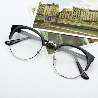 ... Hitam Bingkai Logam Bundar Besar Kacamata Fashion Eyewear  (OE427OTAA4AWRHANID-. Source · Gaya Retro Wanita Pria Nerd Kacamata Bening  Lensa Kacamata ... 93bffd9247