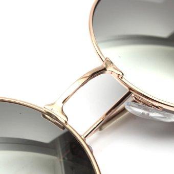 Retro Vintage Pria Wanita Kacamata Hitam Bingkai Logam Bundar Besar  Kacamata Fashion Eyewear bfc0cb24d3