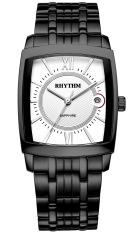 Rhythm P1201.05 - Jam Tangan Pria - Stainless - Black White