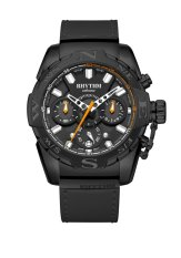 Rhythm S1414.06 - Jam Tangan Pria - Leather - Black