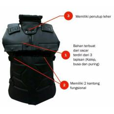 Rompi Random House Vest Motor Touring Tour Biker Bike Body Protector Sakatsu Resleting Scotlight