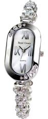 Royal Crown 3801B - Jam Tangan Wanita - Stainless - Rhodium Silver (FREE SIZE)