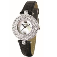Royal Crown - Jam Tangan Wanita - Hitam - Strap Leather - 3624R