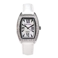 Royal Crown - Jam Tangan Wanita - Putih - Strap Leather - 3635M