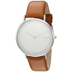 rumbatime womens soho leather hazelnut quartz metal and leather casual watch colorbrown