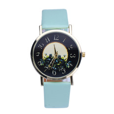 Rural Style Women Fashion Collocation Leather Watch Mint Green