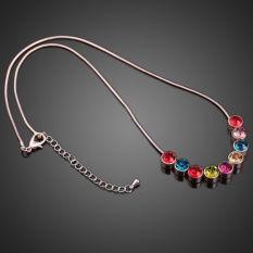 S & F Charming Elegant Jewelry Colorful Rhinestone Short Necklace For Women (Intl)