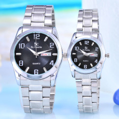 Saint Costie - Jam Tangan Pria & Wanita - Body Silver - SC-RT-5041GL-SB - Couple