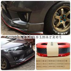 Samurai Multideflector Carbon List Merah Lebar 6 Cm Lips Bumper ( Bisa untuk Bumper. Sideskirt. Ducktail)