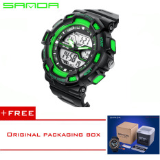 Sanda 2016 Men Watches Luxury Brand Men's Quartz Hour Analog Digital LED Sports Watch Men Army Military Wrist Watch Relogio Masculino726 (Green) [Buy 1 Get 1 Freebie]