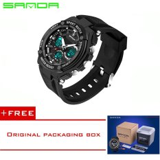 SANDA 2016 New Brand Sports Watches Men Fashion G Style LED Military Army Watch Waterproof Shock Diving Wristwatch Reloj Hombre733 (Black) [Buy 1 Get 1 Freebie]