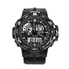 SANDA 737 Men's Fashion Outdoor Sports Waterproof Noctilucent Watch (Black)