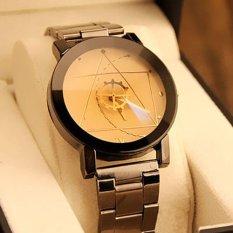 Santorini Jam Tangan Wanita Analog Fashion Watch Stainless Steel Women Lady Quartz Analog Wrist Watch - BROWN