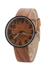 Sanwood Girl's Women's Wood Grain Faux Leather Analog Quartz Wrist Watch