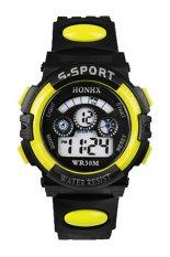 Sanwood Men's Boys' Date Alarm Stopwatch Sports LED Digital Rubber Wrist Watch Yellow