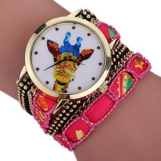 Sanwood Women's Giraffe Multi-layers Mini Beads Bracelet Wrist Watch Type 3
