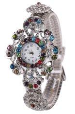 Sanwood Women's Rhinestone Flower Quartz Wrist Watch Multi-Color