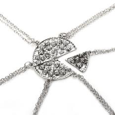 Set Of 6 PIZZA Slice Pendant Best Friends Wholesale Lot Necklaces (Intl)