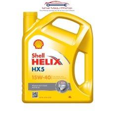 Shell Helix HX5 15W-40 API SN - Pelumas Oli Mesin Mobil Bensin 4 Liter