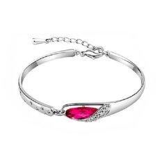 Shine's Glass Slipper Bracelet Purple Crystal 925 Sterling Silver / Gelang Wanita - Rose