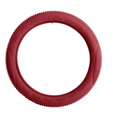 Easy Grip Anti Slip Soft Touch Silicone Steering Wheel Cover (Red)