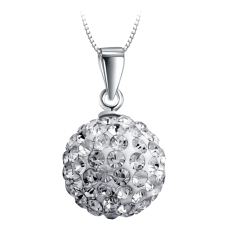 Silver Ball Shaped Women Necklace Pendant, 10mm (Pendant Only) - Intl
