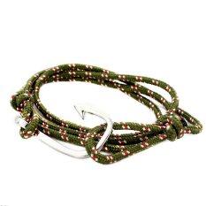 Silver / GoldPlated Hook-Fish Hook Bracelet, Paracord Rope Fish Hook Bracelet, Wrap Hook Adjustable Bracelet