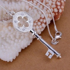 Silver Plated Necklace, Silver Plated Fashion Jewelry Key Pendant Christmas Valentine's Day Gifts - Intl